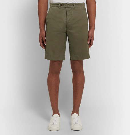 OFFICINE GENERALE Fisherman Cotton-Twill Shorts $275