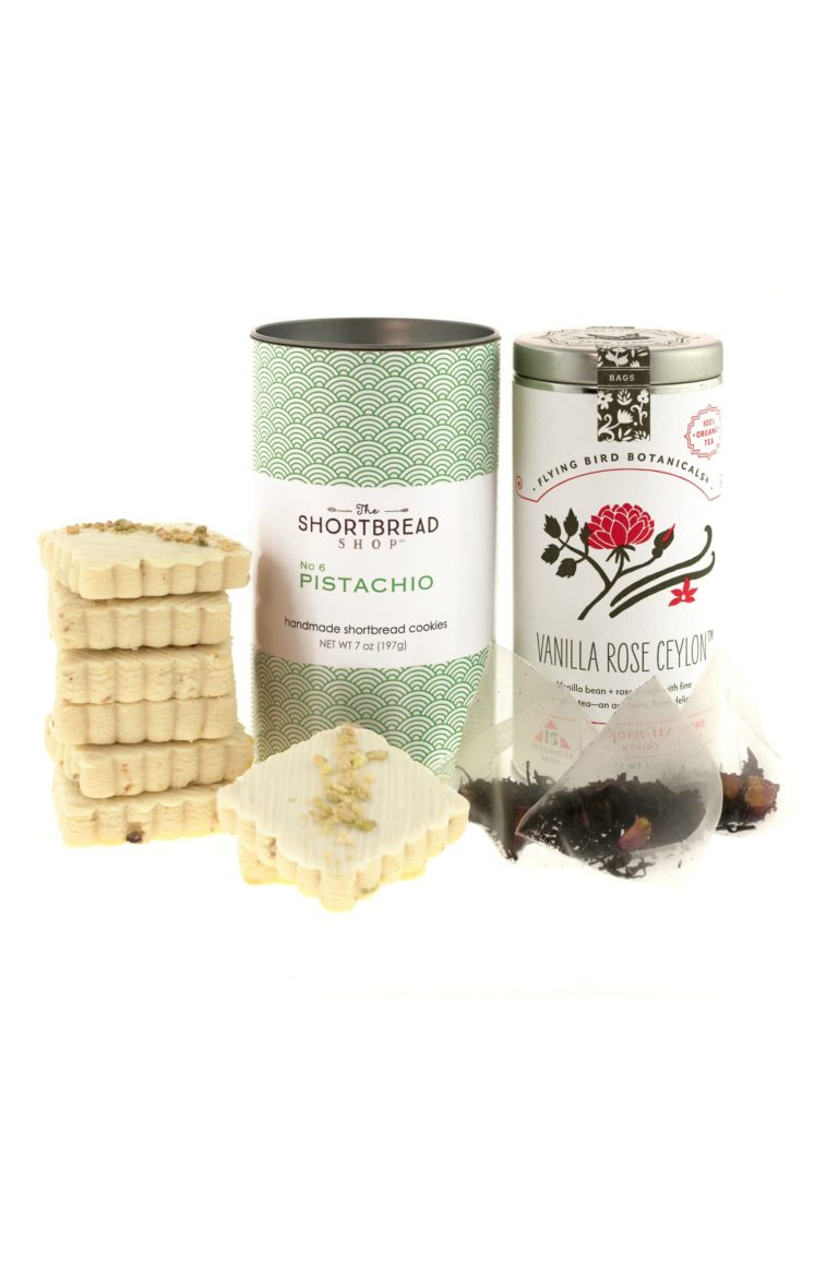 Pistachio Shortbread & Flying Bird Botanicals Ceylon Tea Blend Gift Set $45.00