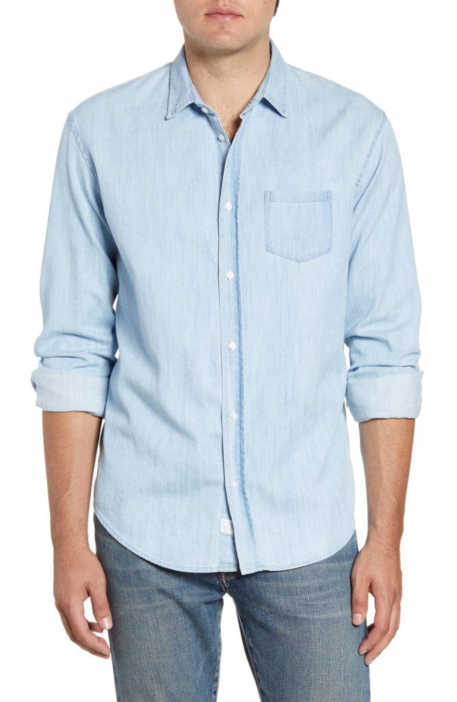 Luke Regular Fit Chambray Button-Up Sport Shirt FRANK & EILEEN $225.00https://fave.co/32QaIyD