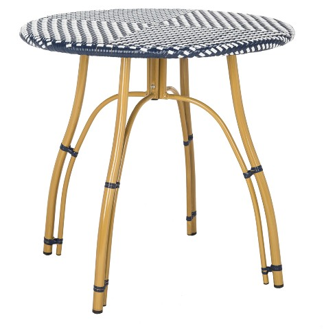 Kylie Bistro Table - Navy/White - Safavieh $147.25https://fave.co/32Gr6Sf