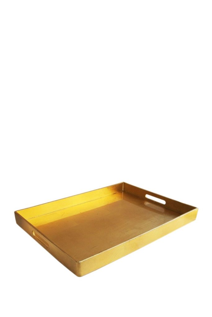 Gold Metallic Rectangular Tray $19.97