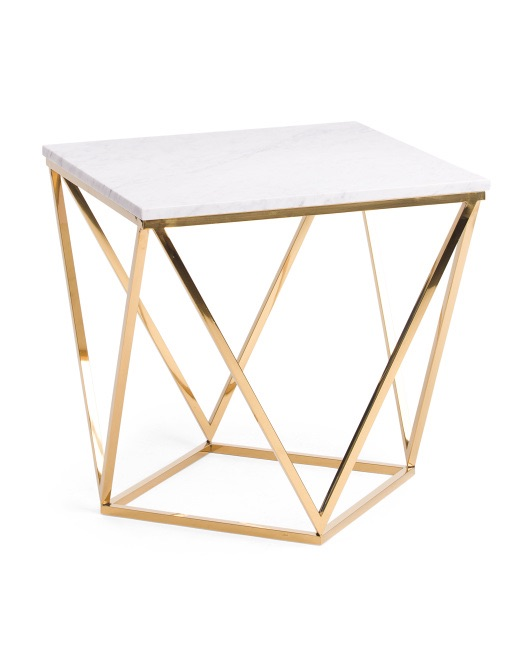 THREE HANDS Metal And Marble Coffee Table $249.99