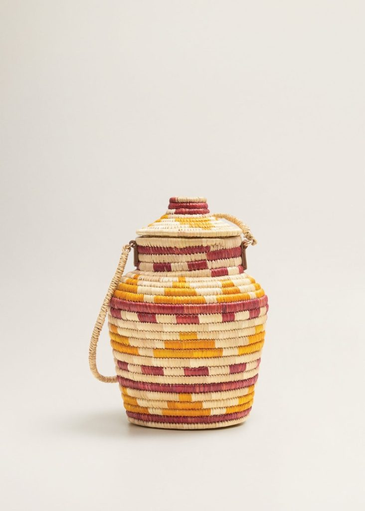 Multicolor raffia bag $49.99