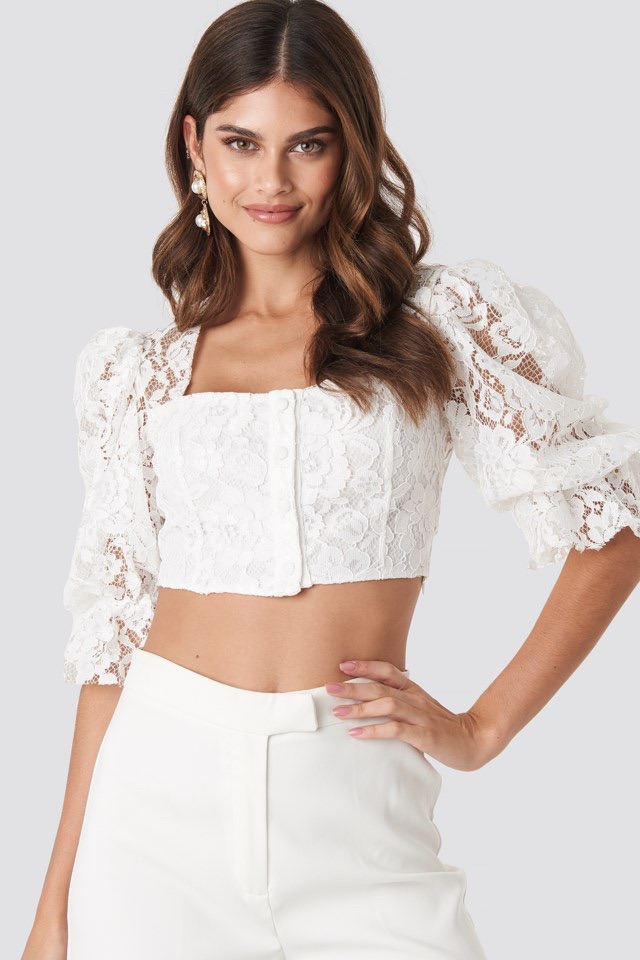 Ecru Lace Blouse White $47.95