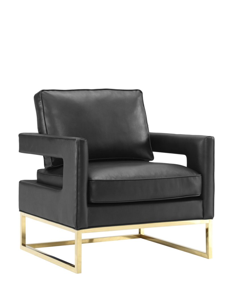 Black Avery Leather Chair $419.99