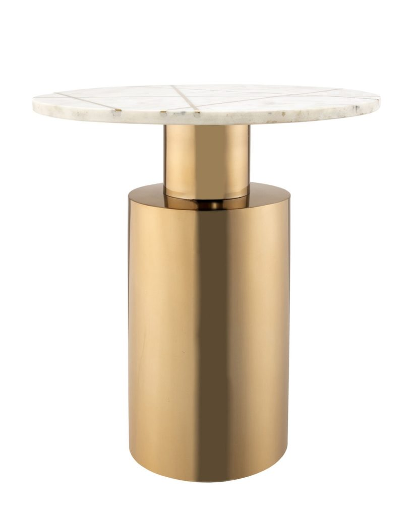 White Terzo Marble Side Table $189.99