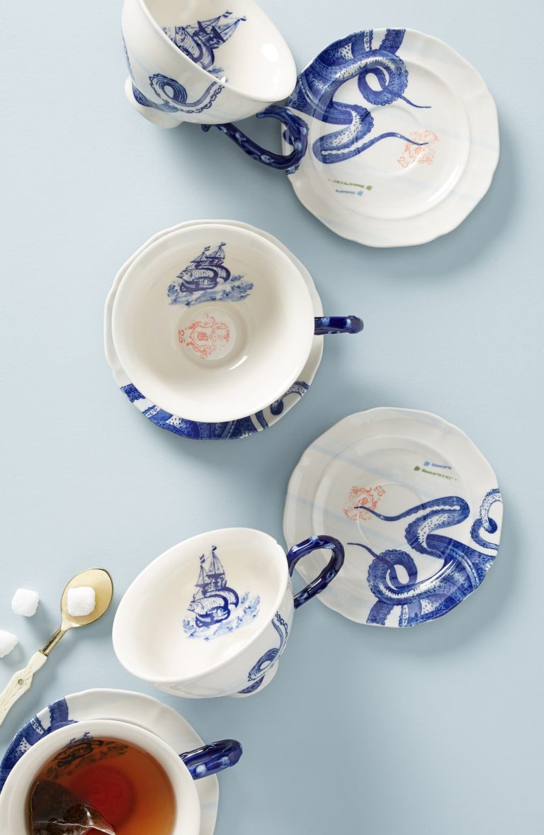 From the Deep Cup & Saucer ANTHROPOLOGIE $18.00