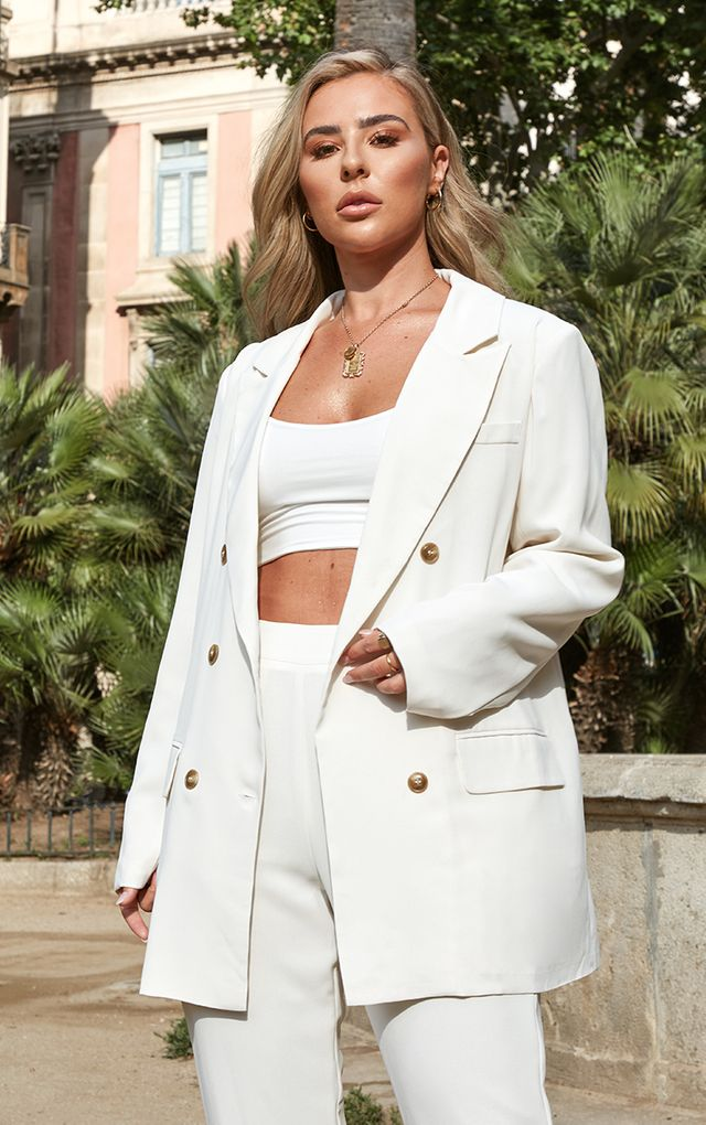 CREAM TAILORED BLAZER $62.00