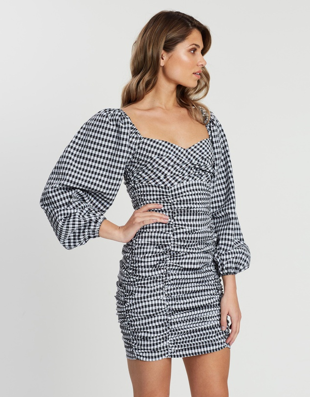 Mona Gingham Mini Dress $79.95