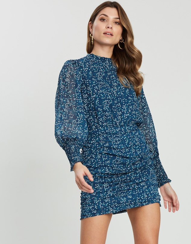 Georgie Ruched Sleeve Mini Dress $99.95