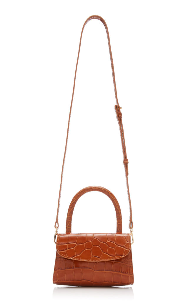 by FAR Mini Croc-Effect Leather Bag $510.00