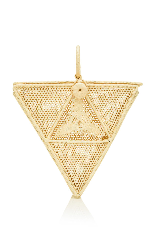 Sensi Studio El Triangulo Straw Top Handle Bag $340.00