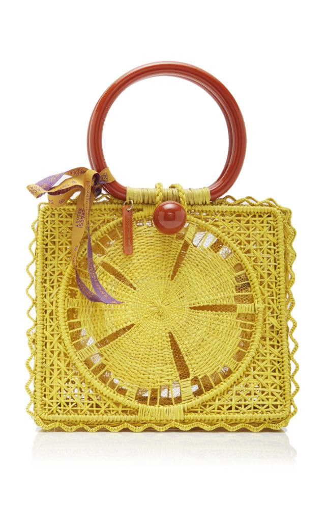 Silvia Tcherassi Small Caimile Iraca Palm Handbag $420.00