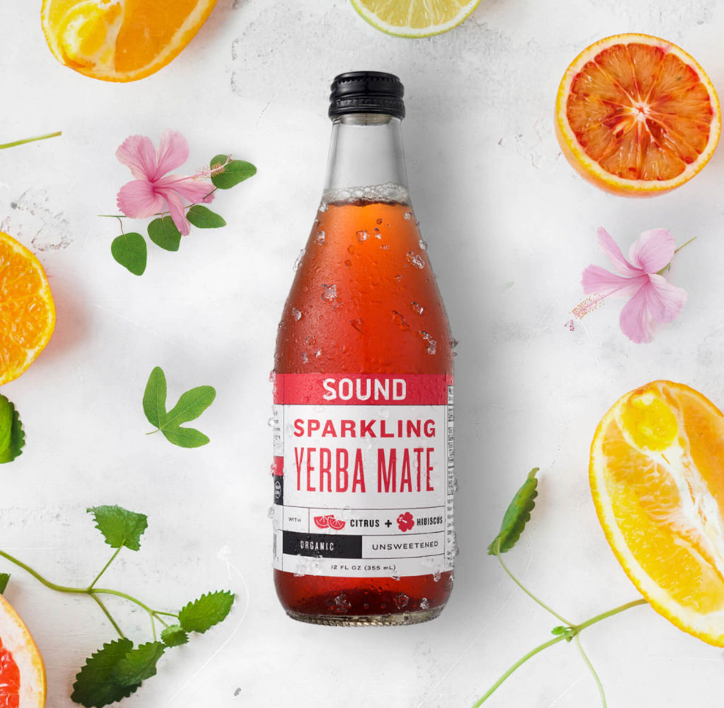 SOUND Sparkling Organic Yerba Mate, 12 Count $29.99