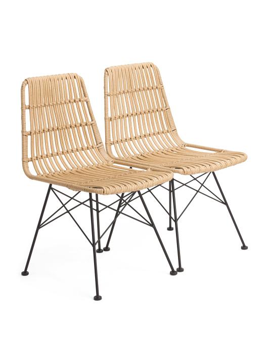 Set Of 2 Indoor Outdoor Natural Chairs $159.99