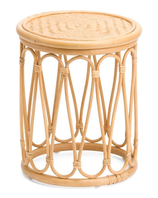 STYLECRAFT Rattan And Bamboo Stool $59.99