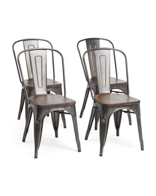 Set Of 4 Metal Chairs $199.99https://fave.co/2O4kAl9
