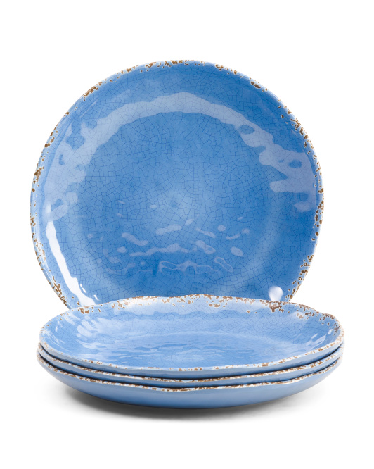 4pk Crackle Melamine Appetizer Plates $6.99