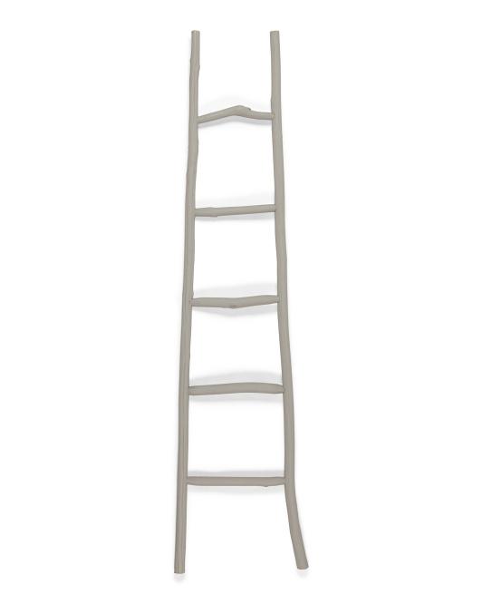 CREATIVE CO-OP Wood Blanket Ladder $39.99