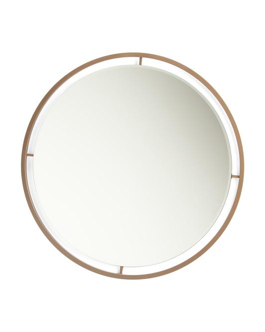 Metal Frame Round Mirror $129.99