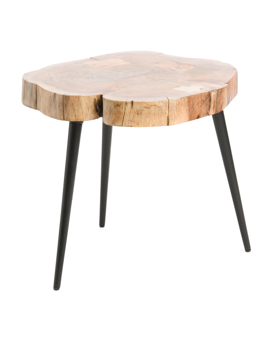 Live Edge Top Midcentury Coffee Table $79.99