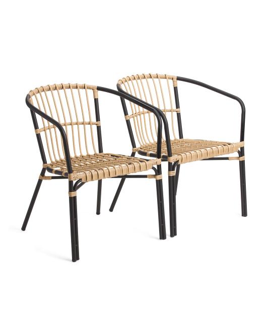 Set Of 2 Indoor Outdoor Natural Chairs $199.99