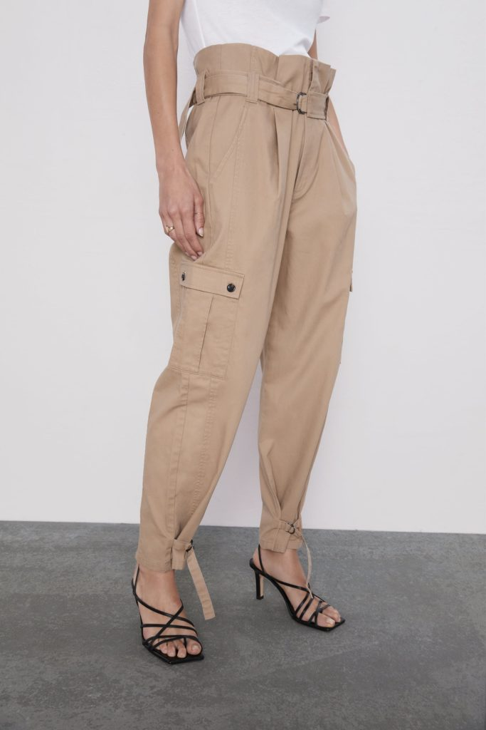 CARGO PANTS WITH BELT $49.90