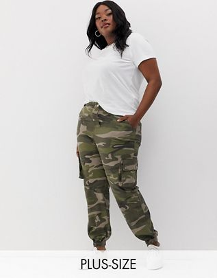 Curve camo utility pants in green pattern $45.00