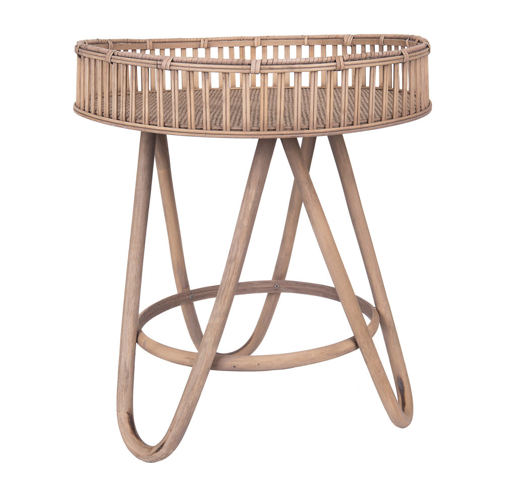 Large Rattan Side Table $129.99