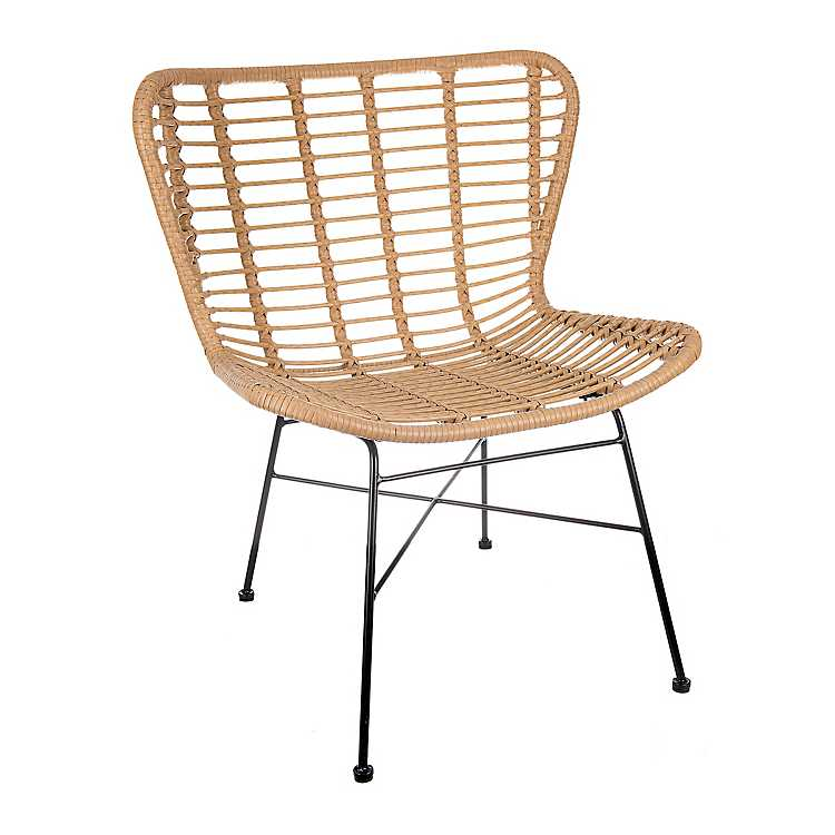 Rattan Chair with Black Base  $63.99 (TEMPORARY SALE)
