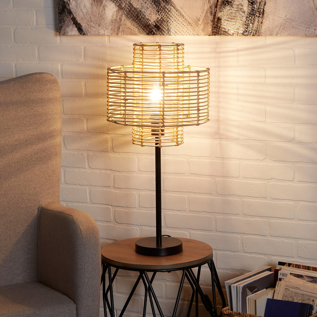 Woven Straw Shade Table Lamp $119.99