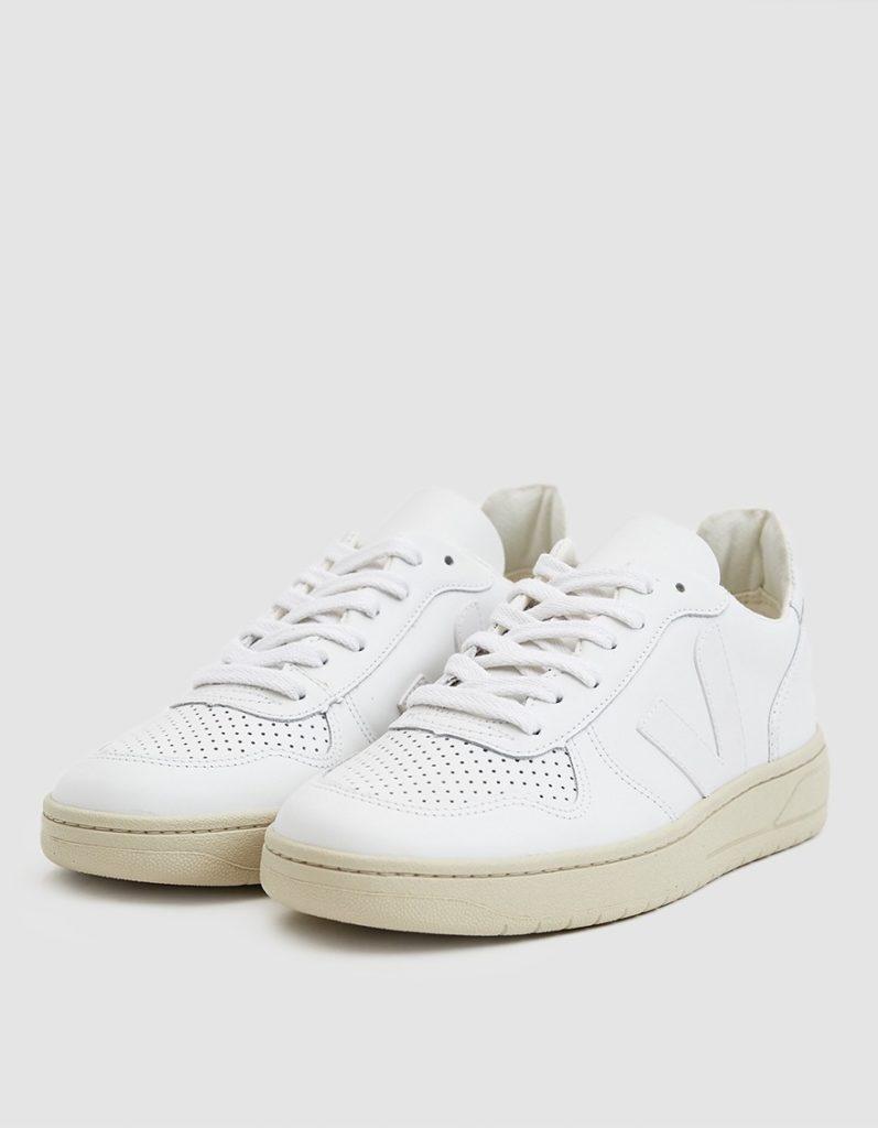 Veja V-10 Sneaker in Extra White $150