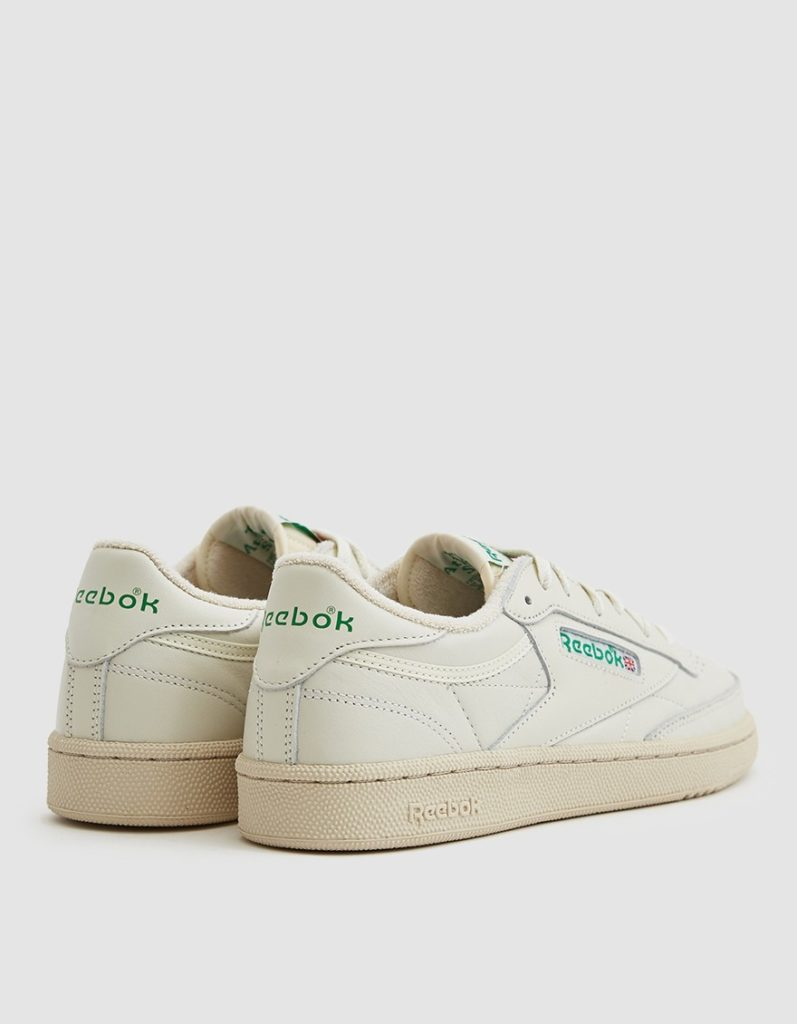 Reebok Club C 85 Sneaker in Chalk/Green $75