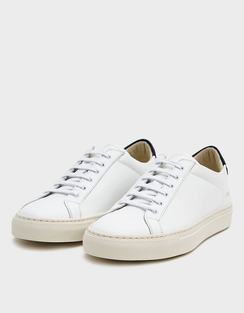 Woman by Common Projects Retro Low Sneaker in White $455