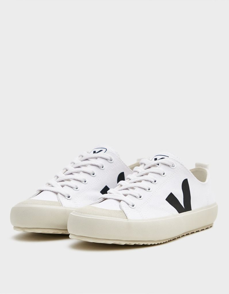 Veja Nova Canvas Sneaker in White Black $100