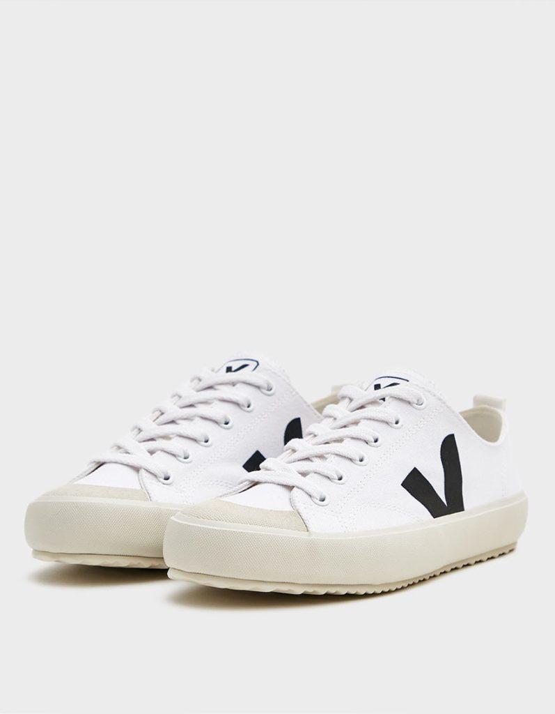 Veja Nova Canvas Sneaker in White Black $100https://fave.co/306WPub