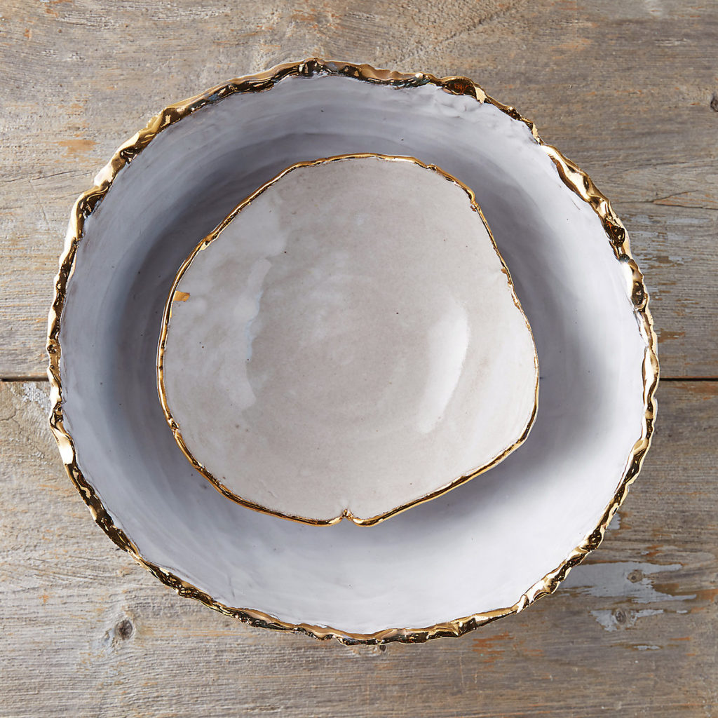 Golden Edge Earthenware Bowl $138.00-$348.00