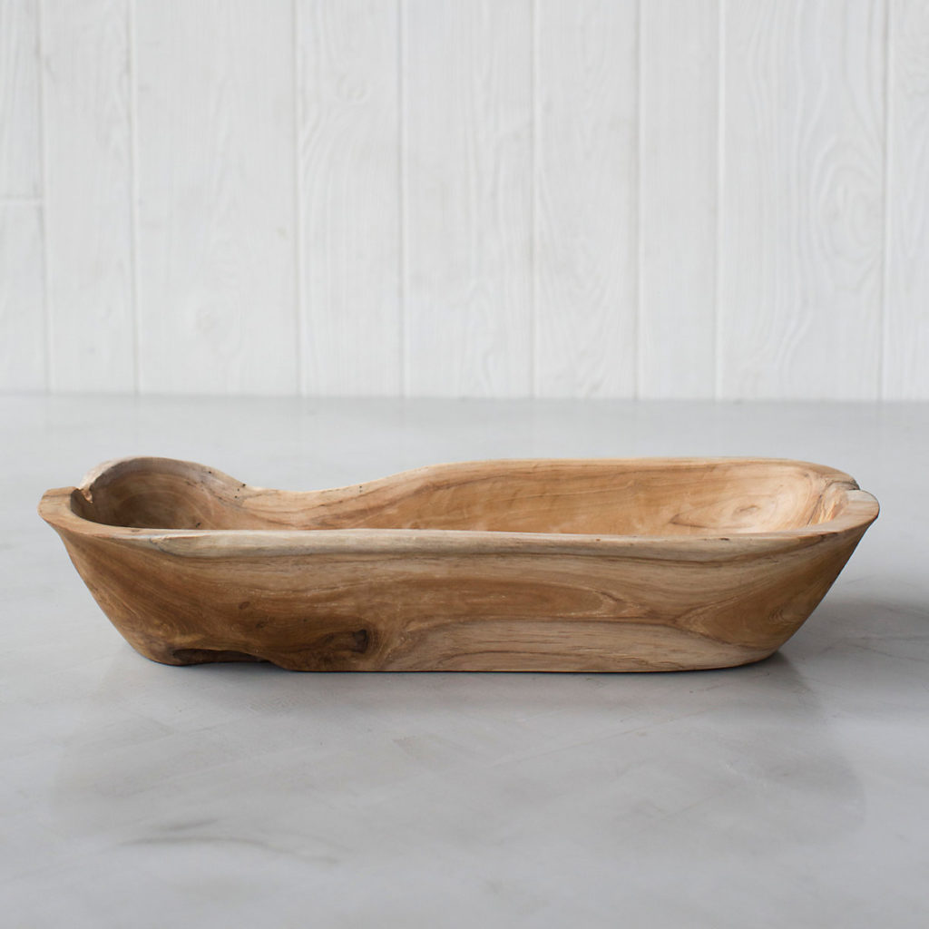 Teak Root Serving Trough $98.00