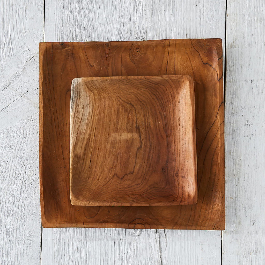 Square Teak Root Salad Plate $28.00