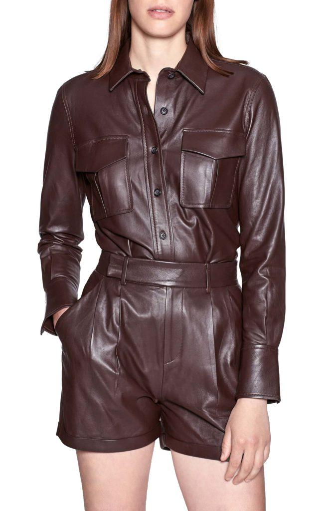 Garcella Lambskin Leather Shirt EQUIPMENT $550.00