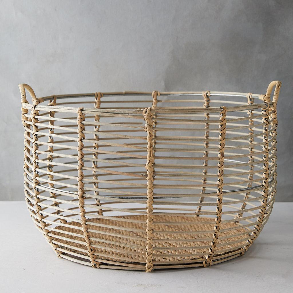 Rattan Wire Basket $98.00-148.00