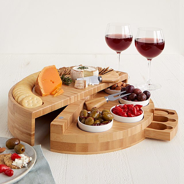 Compact Swivel Cheese & Tapas Board $85.00
