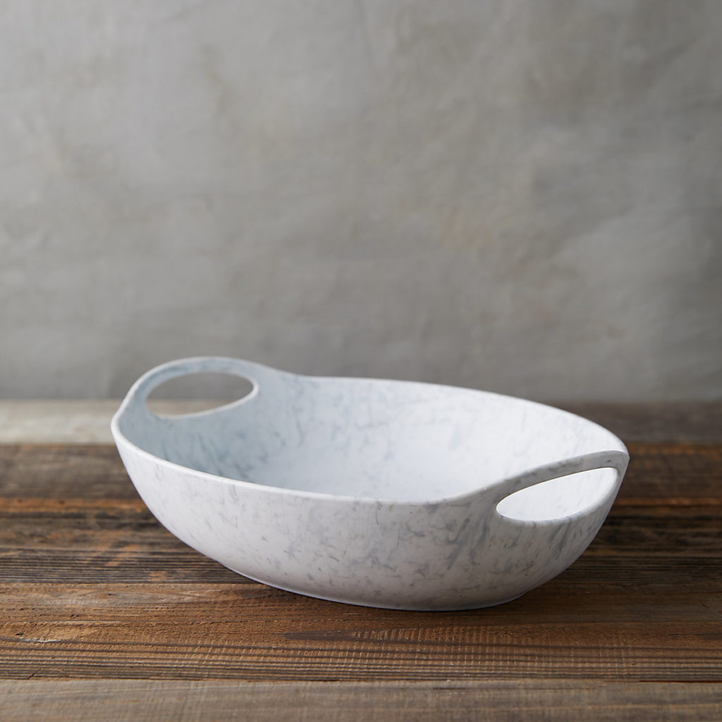Faux Sea Glass Serving Bowl, Oval $48.00