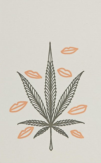 BEBOE X CONNOR Cannabis-Leaf Notecard $8