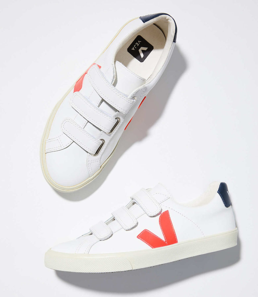 Veja Esplar 3-Lock White Orange Nautico $135