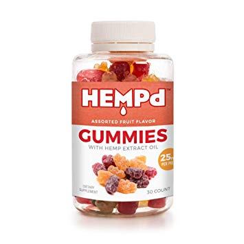 HEMPd 25 mg. Hemp Extract Gummies (750 mg. per 30-Count Bottle) $89.00