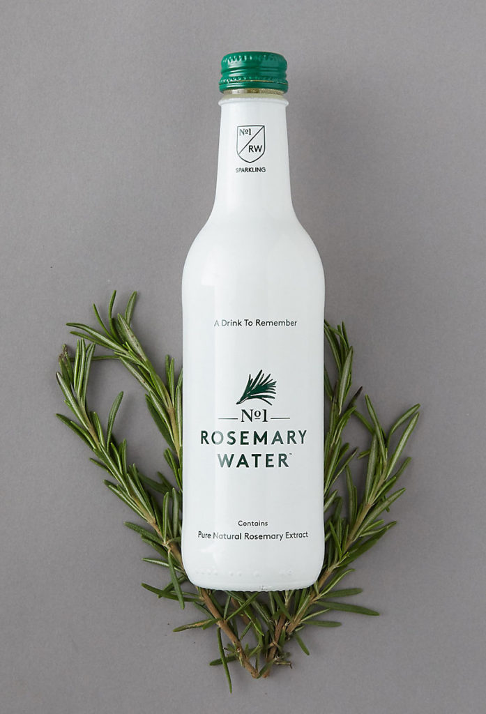 Sparkling Rosemary Water, Pack of 12 $48.00