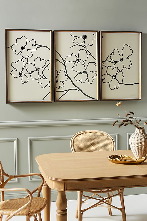 Dogwood Triptych Wall Art $1,598.00