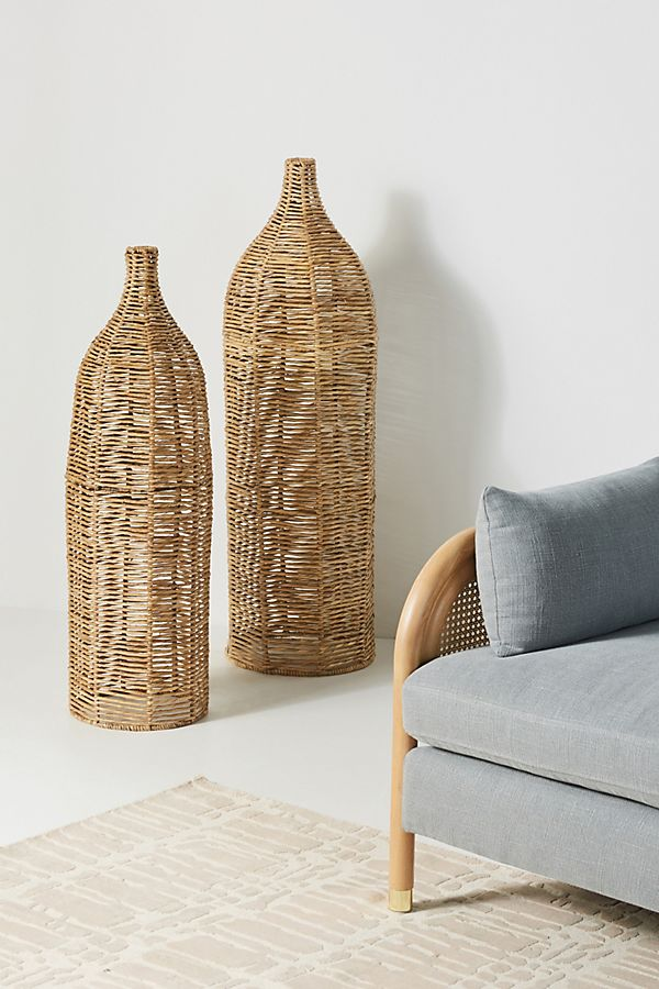 Birdie Wicker Vases, Set of 2 $328.00