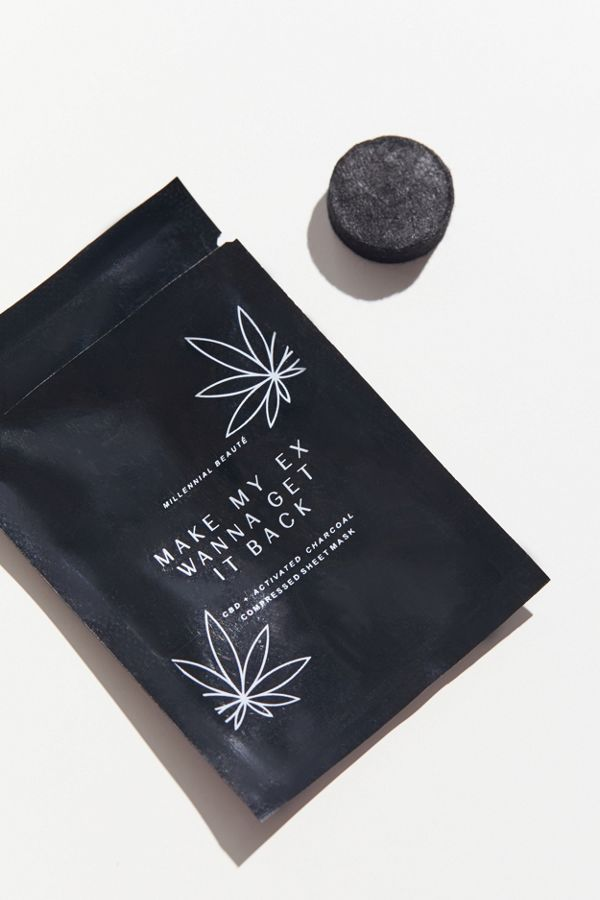 Millennial Beauté CBD + Activated Charcoal Sheet Mask$10.00
